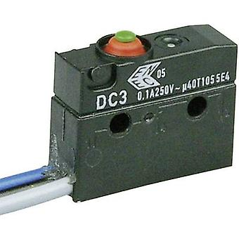 ZF Microswitch DC3C-C3AA 250 V AC 0.1 A 1 x On/(On) IP67 momentary 1 pc(s)