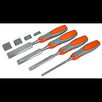 Hout beitel Set - 4 delige set: 6,5, 13, 19 & 25 mm AVIT AV10010