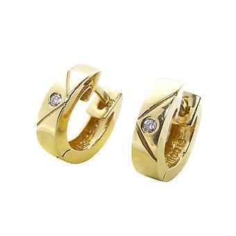 Christian gold pisaranmuotoiset helmiäisklipsit timantti