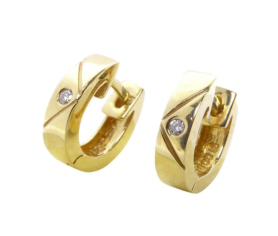 Christian gold earclips with diamond