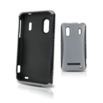5 pack - cuerpo guante protector para Samsung Intercept - cromo / negro