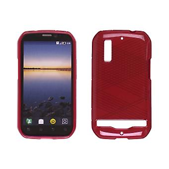 Ventev Criss-Cross Dura-Gel Case for Motorola Photon 4G MB855 (Red)