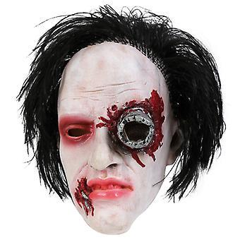 Horor maska tri štvrtiny maska umenie vlasy latex Cyborg Halloween