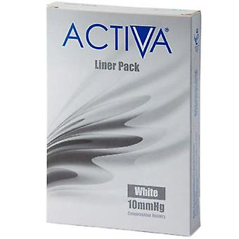 Activa compressão collants Collants forros brancos Lge 10Mmhg 3