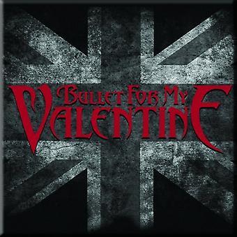 Bullet For My Valentine Fridge Magnet UK Flag band logo new Official 76mm x 76mm