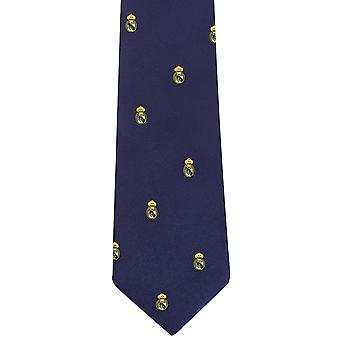 Real Madrid CF Official Patterned Football Crest Neck Tie