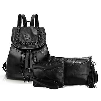 Sac à dos, sac à bandoulière et sac cosmétique, véritable peau d'agneau 0970