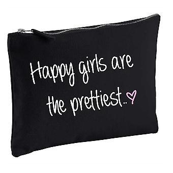 Najszczęśliwszy dziewczyny są najpiękniejsze czarny makijaż torba