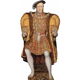Koning Hendrik VIII - Lifesize karton gestanst / Standee