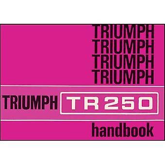 Triumph TR250 proprietari manuale (n. parte 545033)