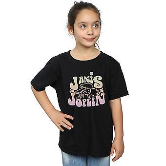 Janis Joplin Girls Pastel Logo T-Shirt