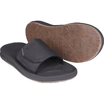 Quiksilver Mens voyage Oasis Slide sandales - noir/brun