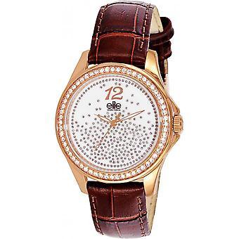 Elite E54242G-805 - watch Leather Brown woman