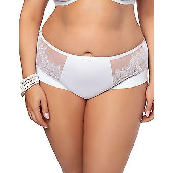 Gorsenia K469 Women's Lilly White Lace Knickers Panty Full Brief