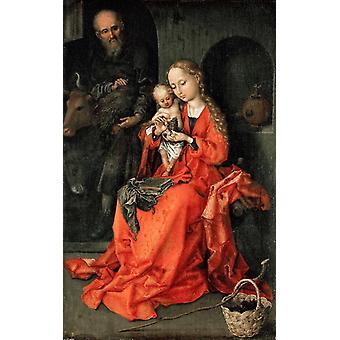 Holy Family, Martin Schongauer, 26x17cm