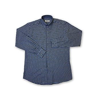 Ingram shirt in blue/navy check pattern