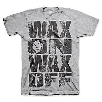 Mannen Karate Kid ' Wax op wax off ' T-shirt