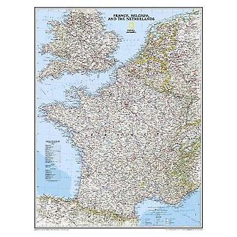France - Belgium and the Netherlands by National Geographic Maps - 97