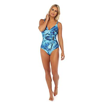 Seaspray SY007785 Women's Narissa Blue Multicolour Floral Costume One Piece Side Buckle Swimsuit