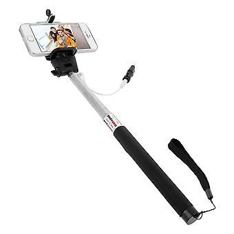 1 m giratorio extensible iPhone selfie Stick-Silver