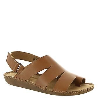 Auditions Womens Speed Leather Open Toe Casual Ankle Strap Sandals