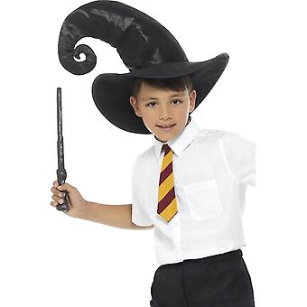 Wizard Kit, Black, with, Tie, Hat & Wand