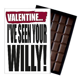 Funny Valentine's Day Gift For Boyfriend Naughty Present Men's Chocolate Card IYF135