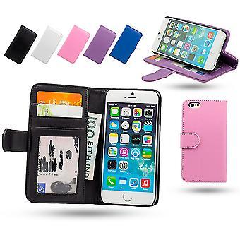 Boîte de portefeuille Iphone 6/6s en cuir avec poche D'Id