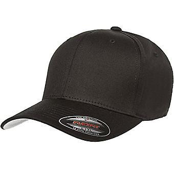 Flexfit Men's Cotton Twill Fitted Cap, Black,, Black, Size Large/X-Large