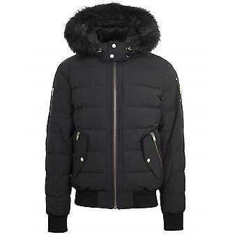 Moose Knuckles Black ScotchTown Bomber Jacket