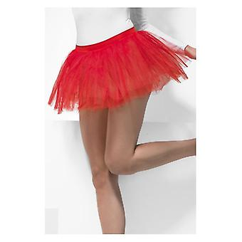 Womens Red Tutu onderjurk Fancy Dress accessoire