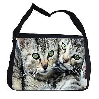 Tabby Cats Brothers bag with shoulder strap-Messenger Bag