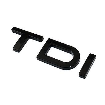 Gloss Black Audi TDI Rear Boot Badge Emblem For A1 A2 A3 A4 A5 A6 A7 A8 Q5 Q7 1.6 2.0 3.0