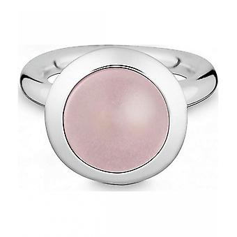 Quinn - Silver ring with rose quartz - 021894630