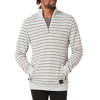 Animal Mens Trimby mânecă lungă casual jumătate zip pulover pullover pista de top-gri