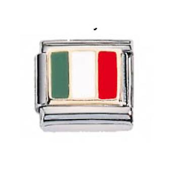 ZOPPINI S.Steel Flag-Italy Charm
