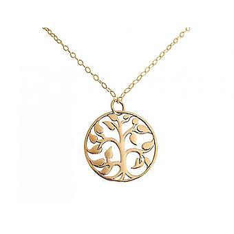 GEMSHINE halsband YOGA LIFE TREE 925 silver, guldpläterad eller ros
