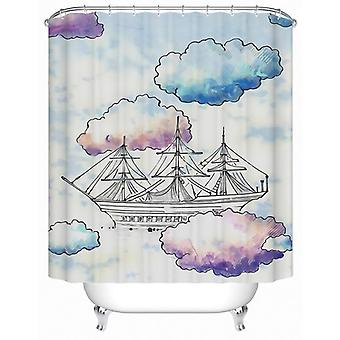 Sailing The Clouds Shower Curtain