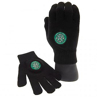 Celtic FC Childrens/Kids Knitted Gloves