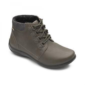 Padders Journey Ladies Couro Extra Wide (2e/3e) Boots Green
