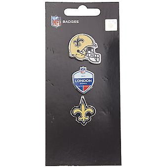New Orleans Saints NFL Pin Badge Pin Set of 3 London