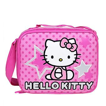 Lunch Bag Hello Kitty Pink Star and Dots Case Girls - Licensed - 81401
