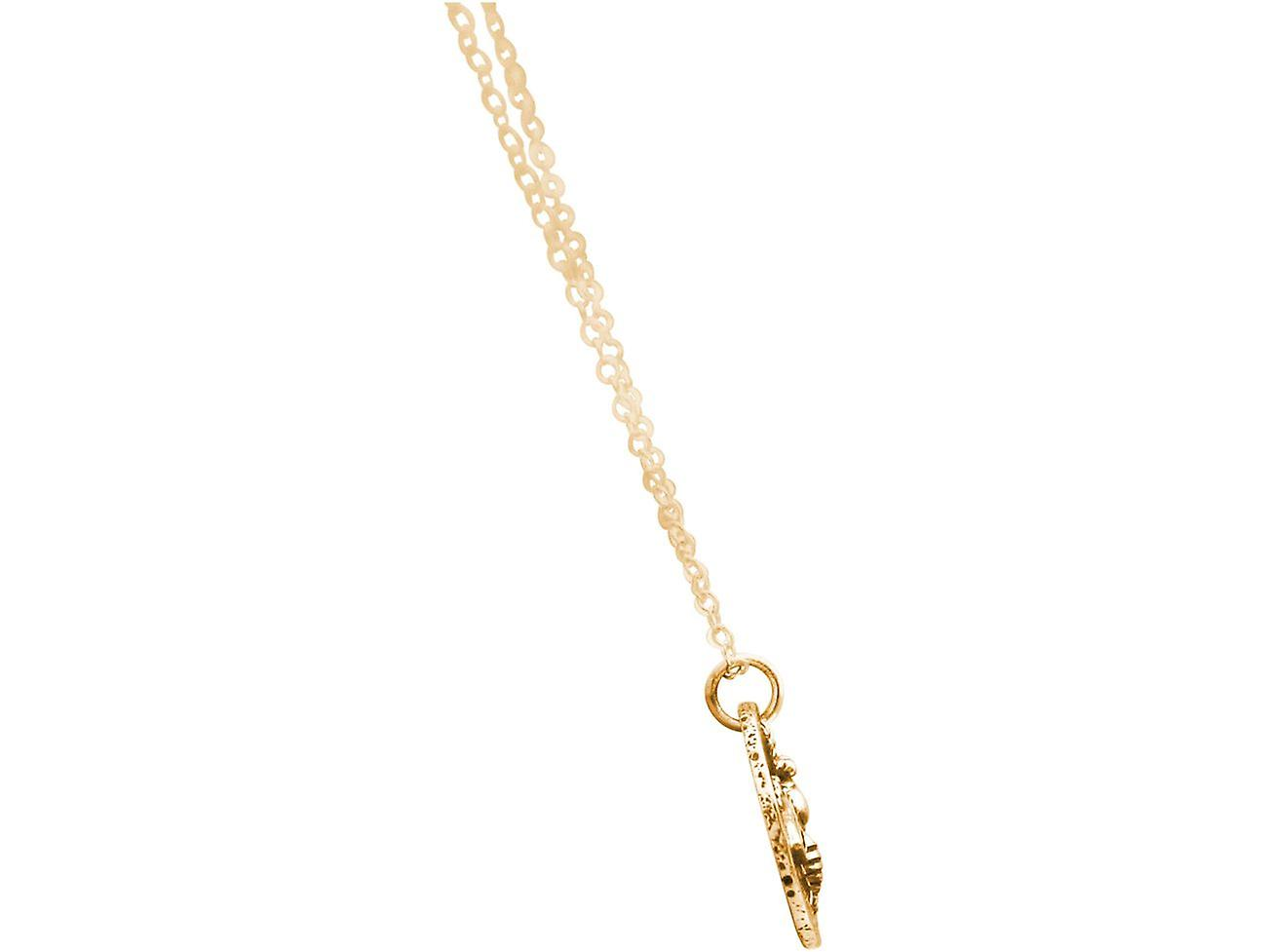 Gemshine BIENE Halskette Münze Anhänger in 925 Silber, vergoldet oder rose