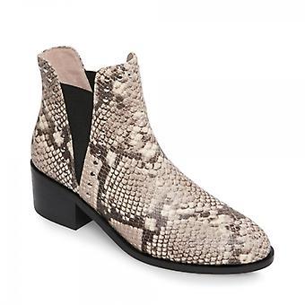 ستيف مادن كيد السيدات الجلود الكاحل الأحذية الطبيعية / ثعبان
