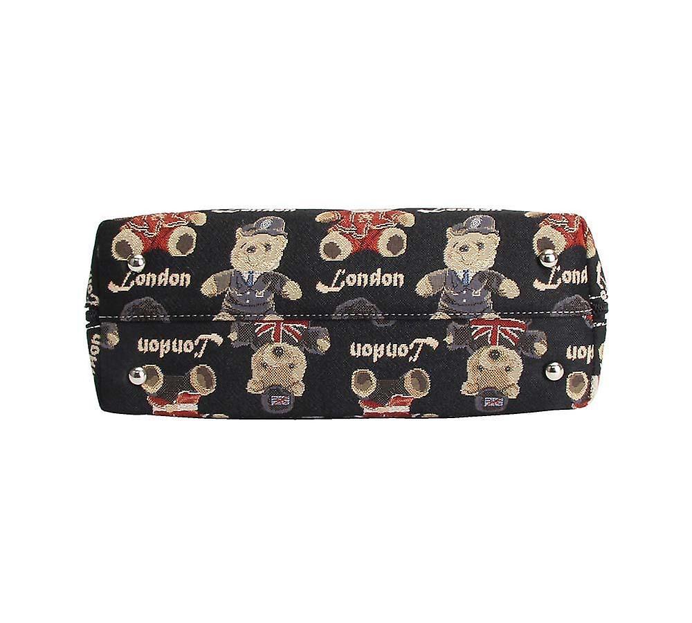 London bear top-handle shoulder bag by signare tapestry / conv-lnbe