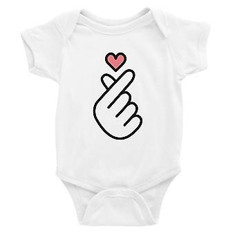365 painaminen sormi sydän vauva Body lahja valkoinen vauva Jumpsuit vauva suihku
