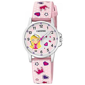 Calypso JUNIOR K5776-2 Watch 27MM 3NEEDLES teräs nousi Dial vaaleanpunainen kuvio RANNE koru naisille