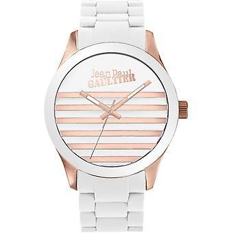 Se Jean Paul Gaultier 8501126-Bicolore Steel Blanc og Dor Rose Marin dial