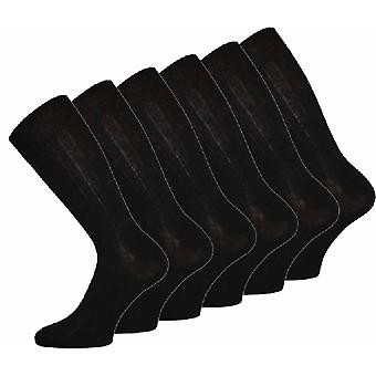 Mens WOOL Blend Ribbed Comfy Grip Socks