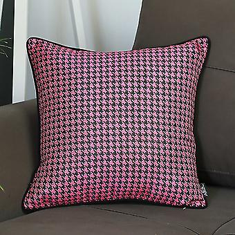"""17""""x 17"""" Jacquard Lily Decorative Throw Cover Pillow"""